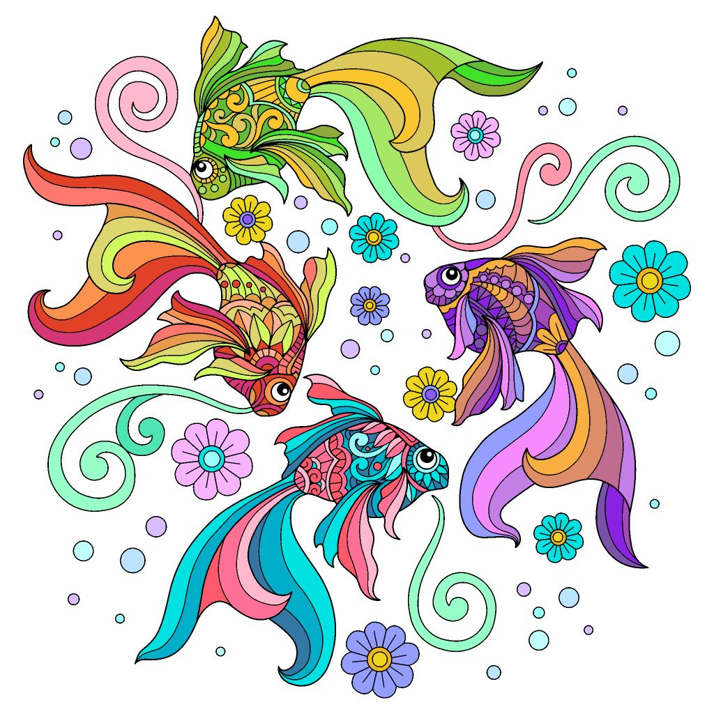 Pin By Kimberly Burgan On Color By Number Colorful Art Feather Wall Art Coloring Book App