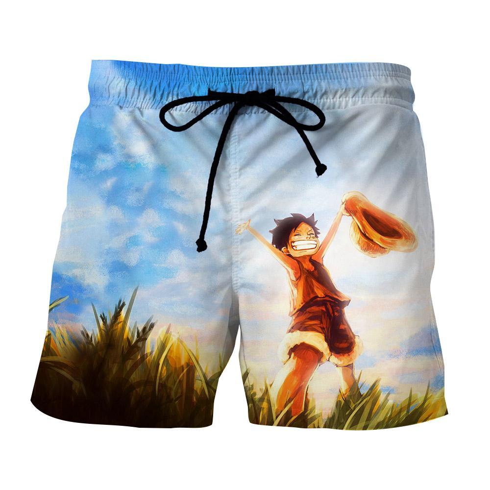 dbd908cc17 Summer Short One Piece Luffy child   Otaku Clothes   Short one piece ...