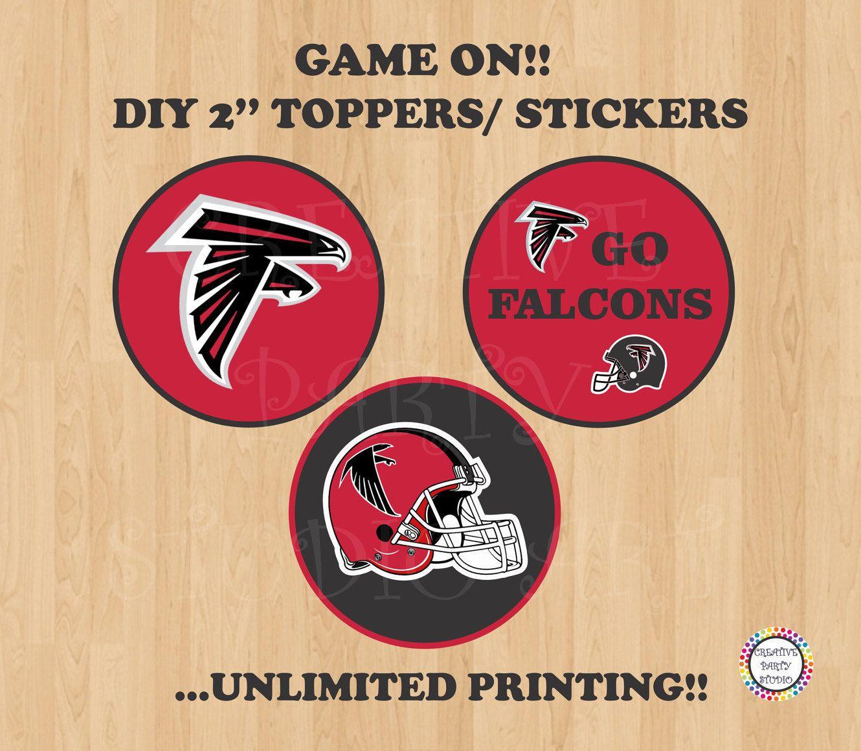 Diy Super Bowl Atlanta Falcons Party Decoration Printable Super Bowl Supplies Falcons Atlanta Falcons Party Decorations Diy Super Bowl Atlanta Falcons Party
