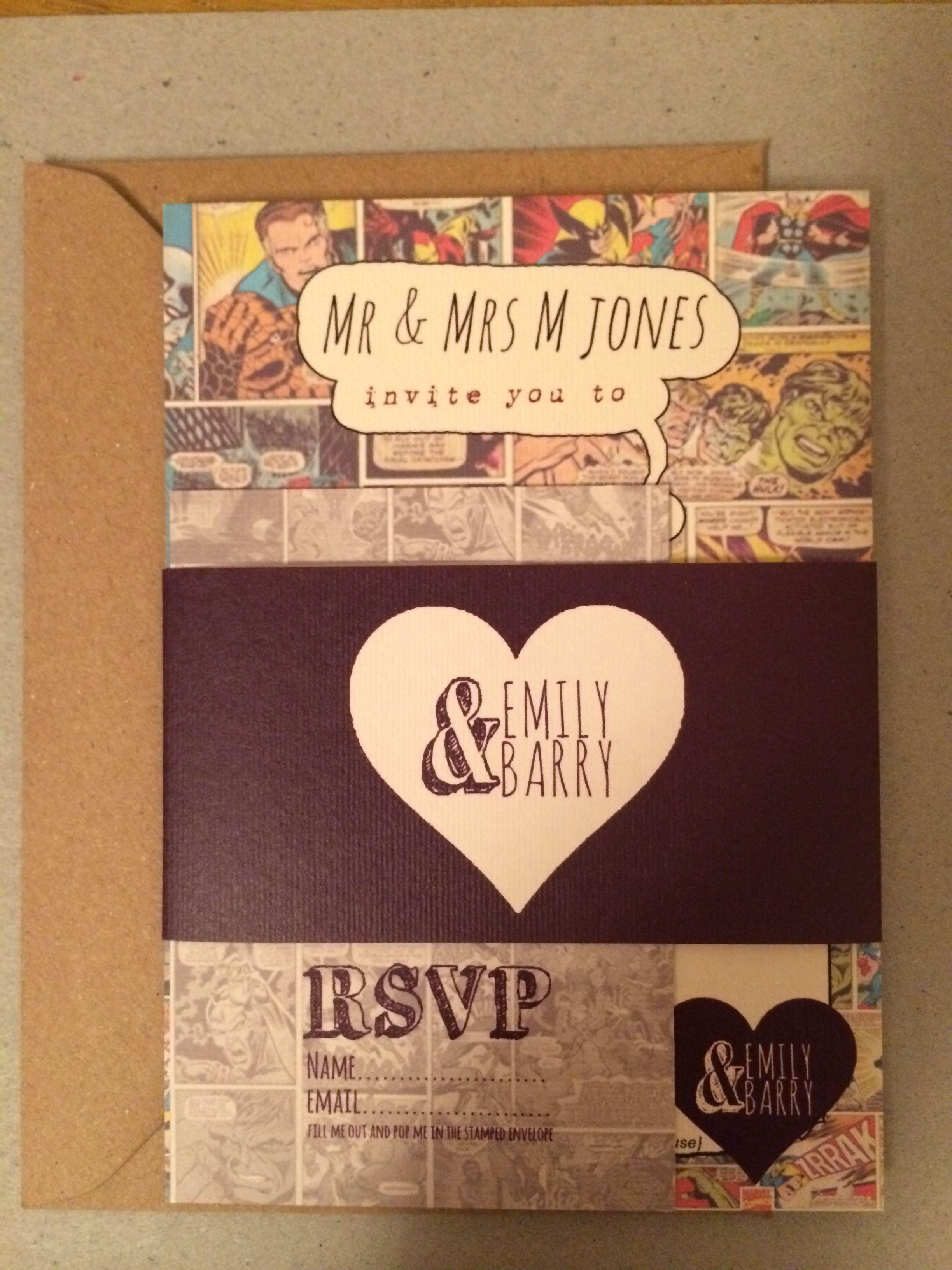 Our Comic Book Wedding Invitations