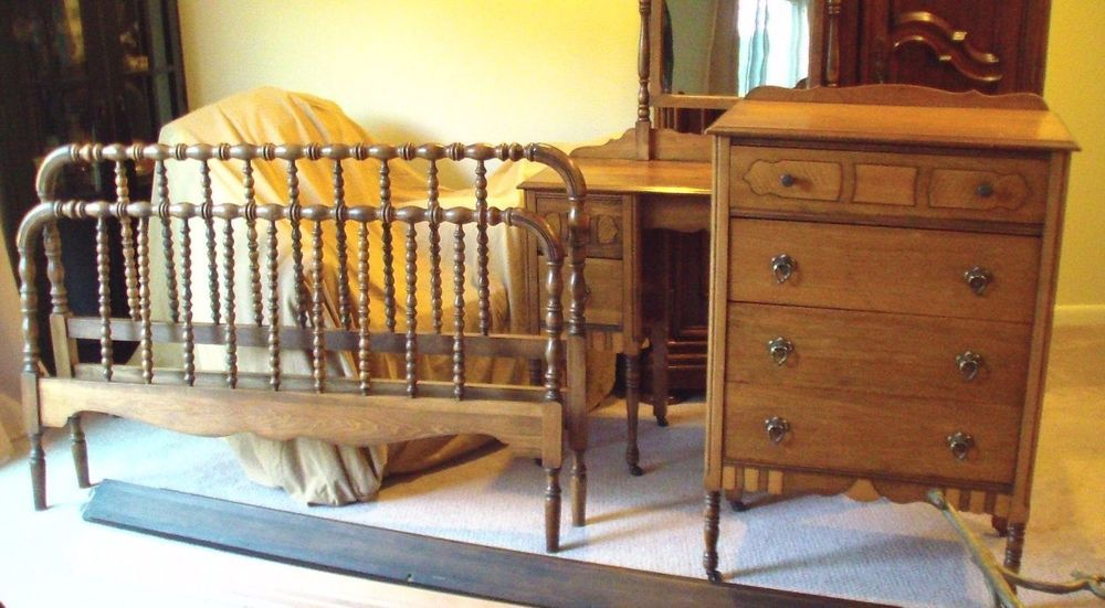 Antiques Practical Pair Of 1920s Cane Bergere And Oak Single Beds Goods Of Every Description Are Available
