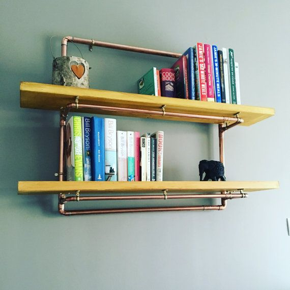Pipe Shelves Kitchen: Copper Wall Pipe Shelf Kitchen Bathroom By