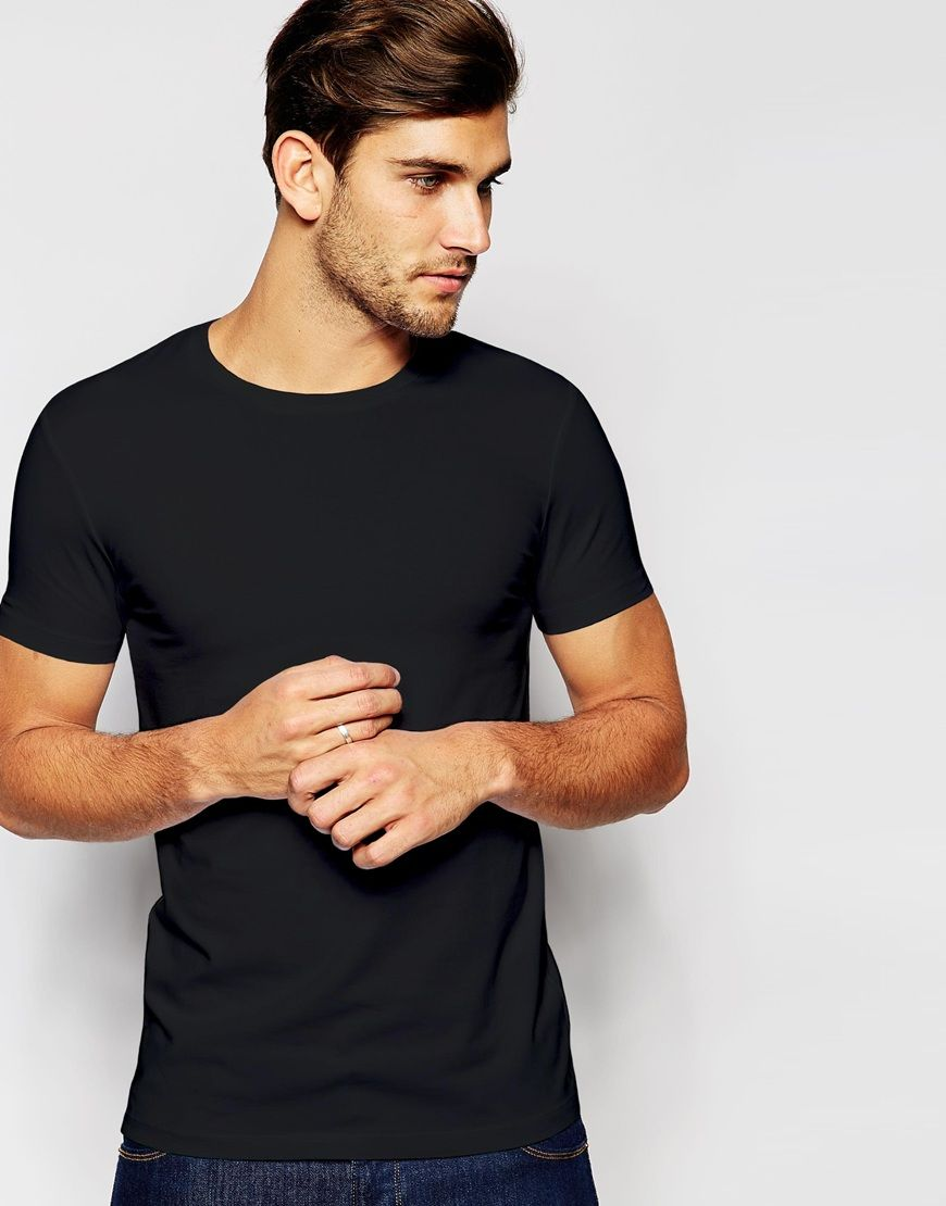 Black t shirt asos - Asos Muscle T Shirt With Crew Neck And Stretch