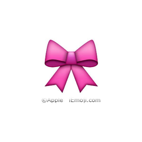 We Heart It Rose Emoji Emoji Bows Pink Bow
