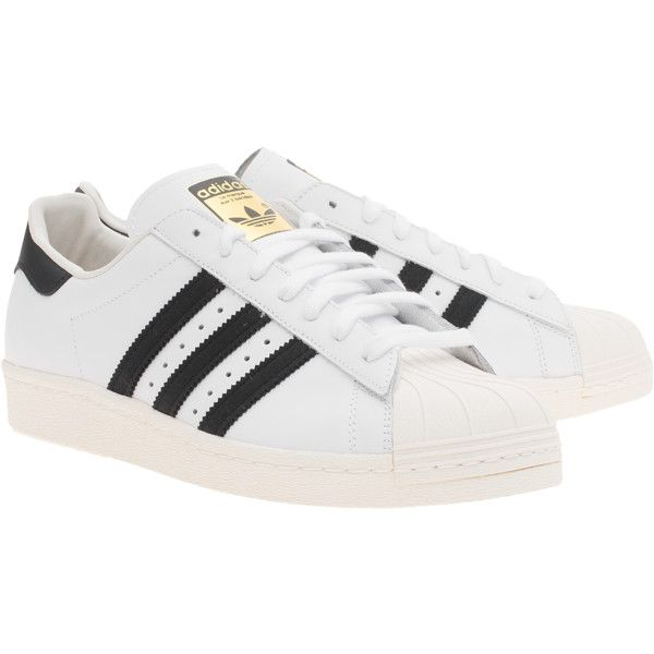 Details about Adidas Originals Superstar 80S Trainers Shoes Leather II Trainers
