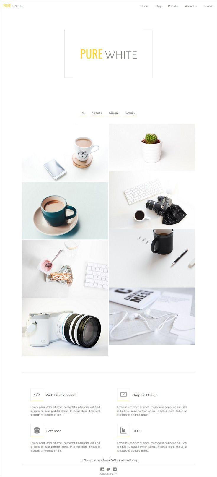 Pure White | Pure white, Template and Web design inspiration
