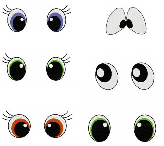Instant Download Eye Designs Eyes Embroidery Designs Lot Of 6