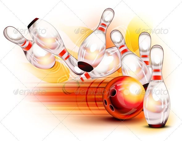 Bowling Ball Crashing Into Pins | Bowling Ball, Bowling And Font Logo