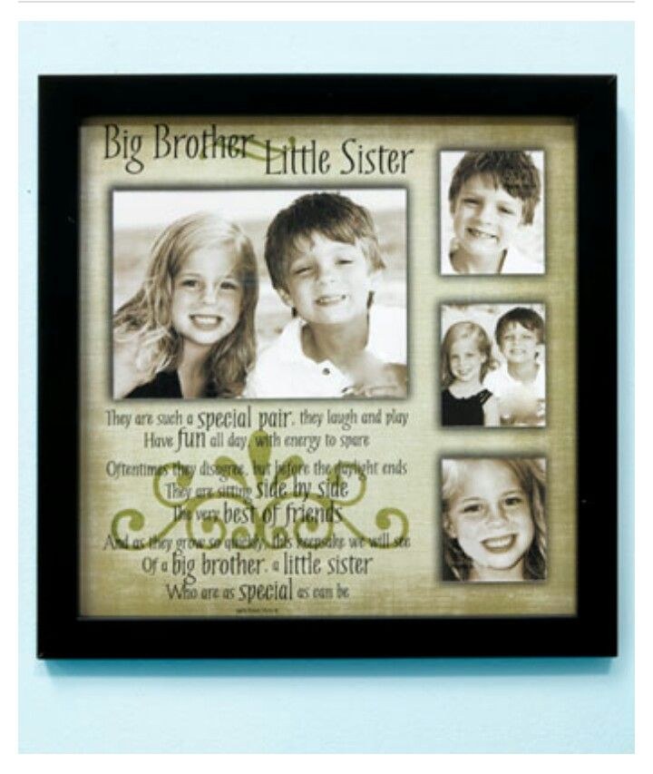 Sibling Collage Frame Big Brother Little Sister | Pictures Frames ...