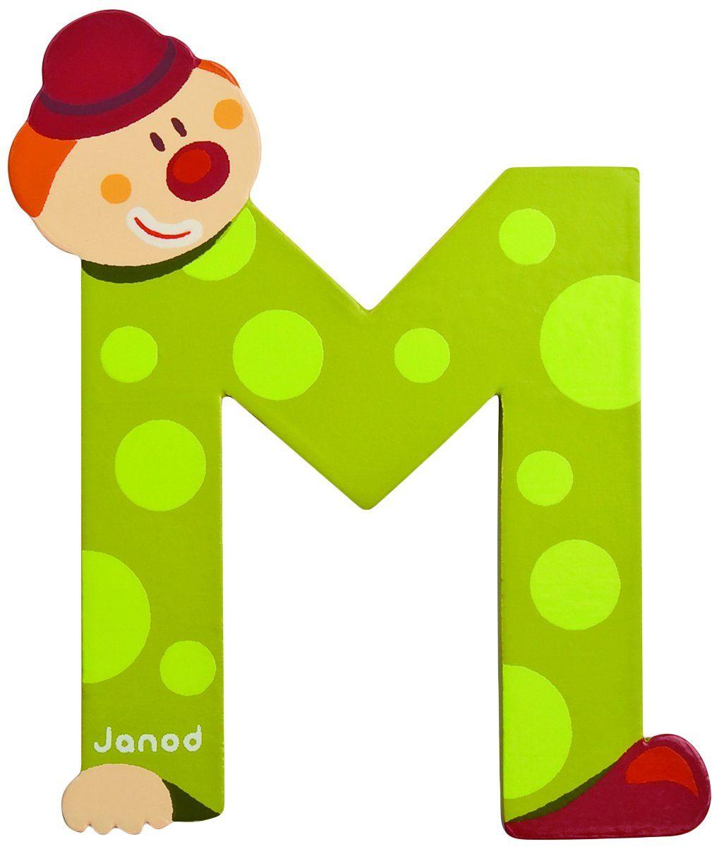Janod J04554 - Clown Letter M | celine abc | Pinterest