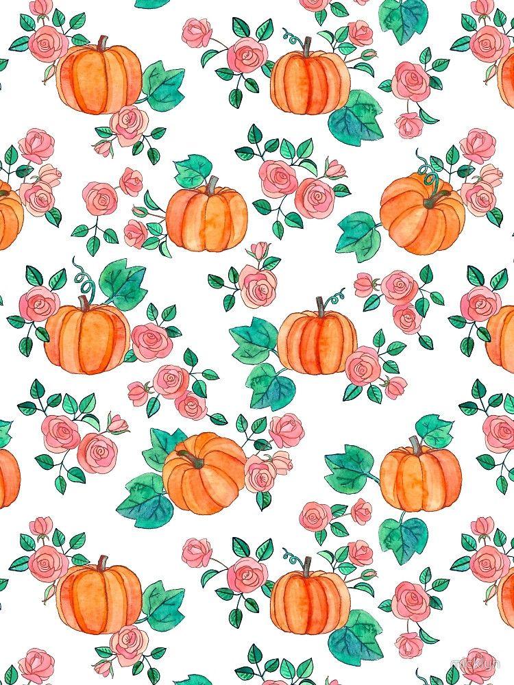 Pumpkins And Roses By Micklyn Pumpkin Wallpaper Autumn Phone Wallpaper Iphone Wallpaper Fall