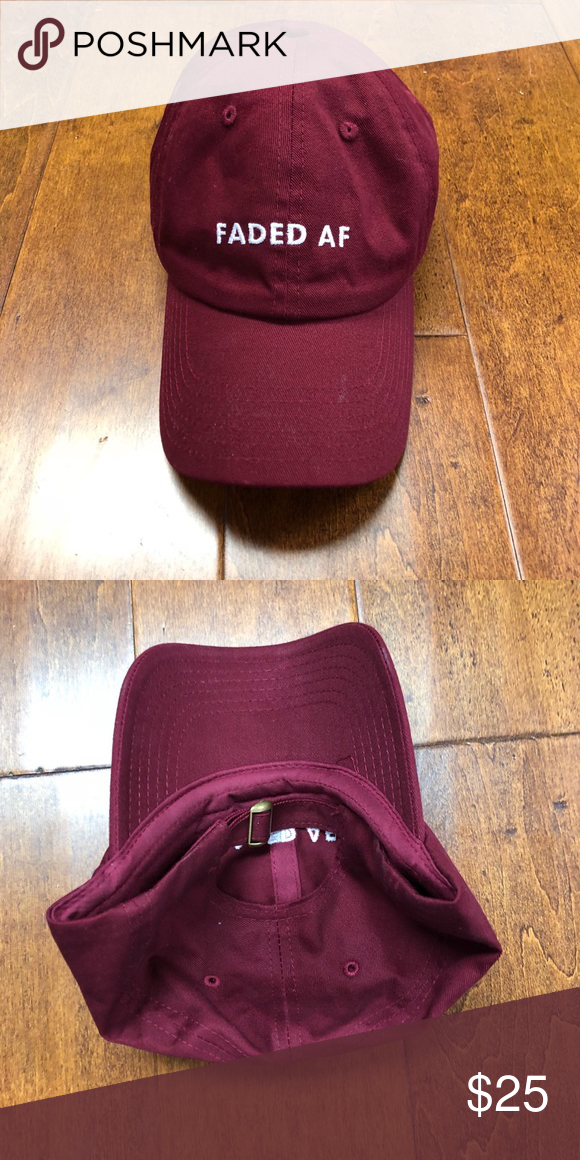 01f4a1a3943b4c Faded Af Dad Cap maroon one size fits all Faded Af Dad Cap maroon one size  fits all Accessories Hats
