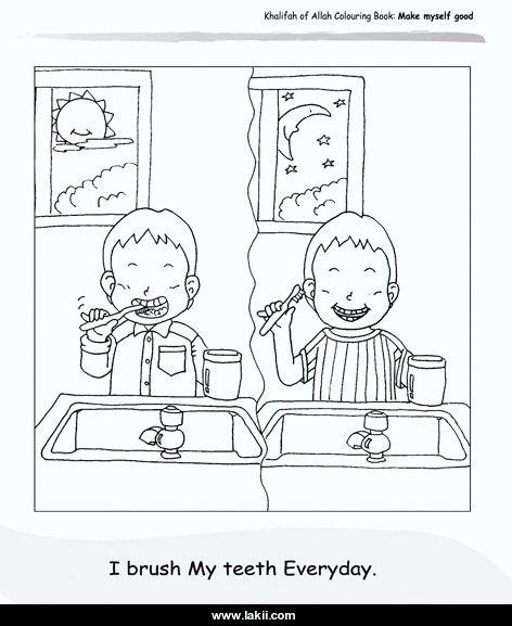 نتيجة بحث الصور عن صور تلوين لادوات النظافة الشحصية Coloring Books I Am Awesome Brush My Teeth