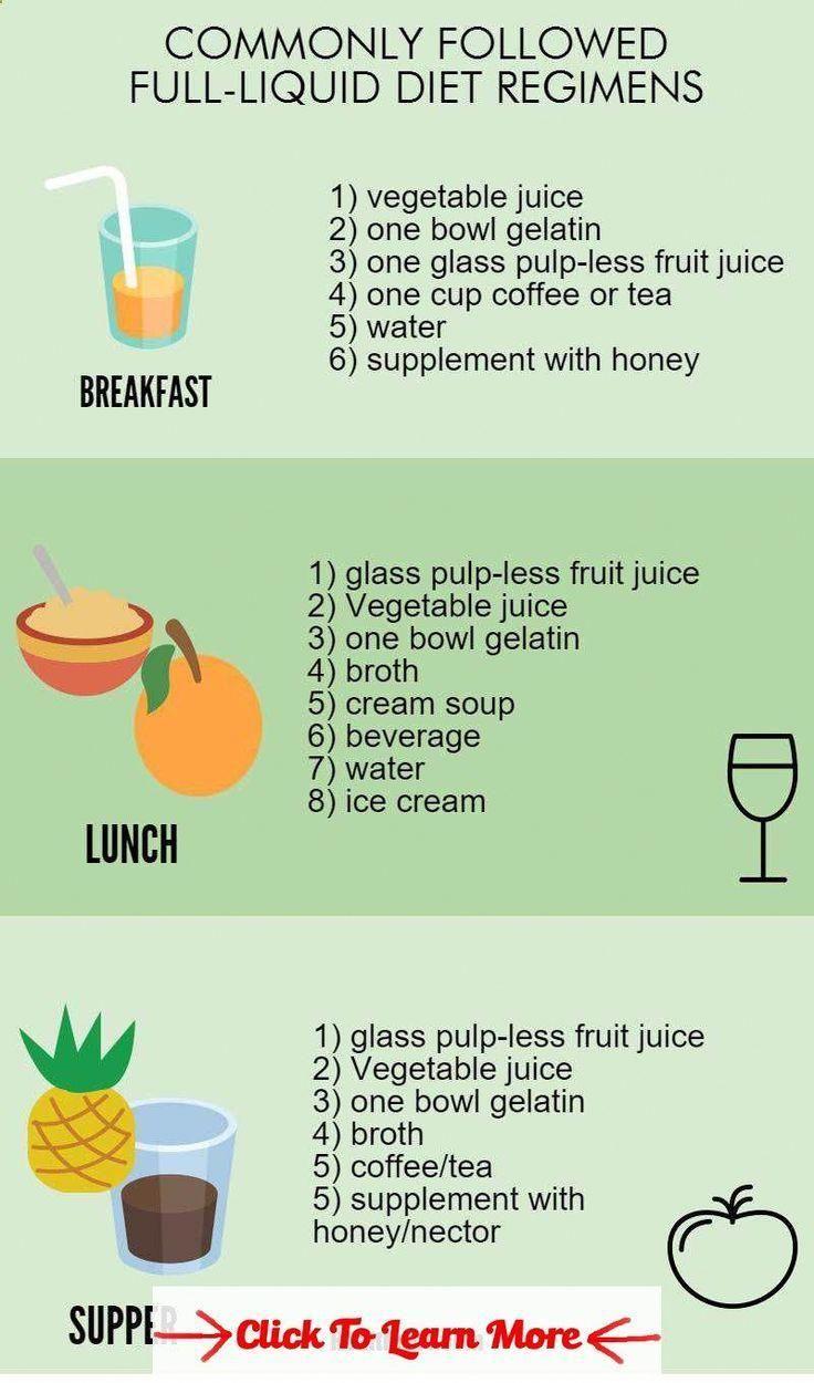 full liquid diet-menu,foods, and diet plan infographic2 #health #fitness #weight... #TheBestDietPlan...