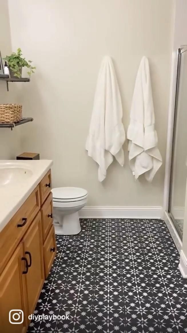 Tips to Stencil Tile Floors in your Bathroom
