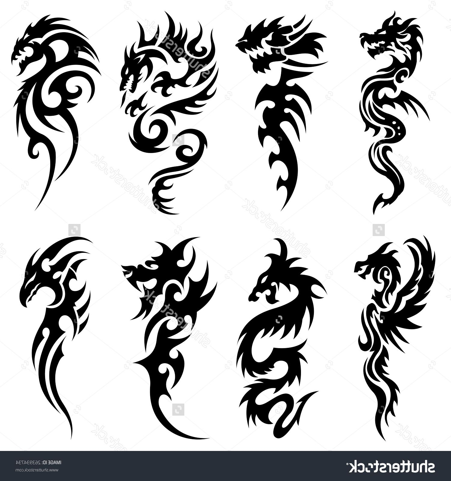 Tribal Snake Tattoo Designs Scary Tribal Snake Tattoo Design With