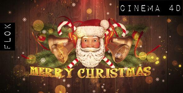 Santa claus greetings cinema4d cinema 4d logos and signage m4hsunfo
