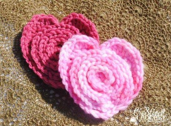 Crochet Flower In A Heart Free Patterns Pinterest Free Crochet