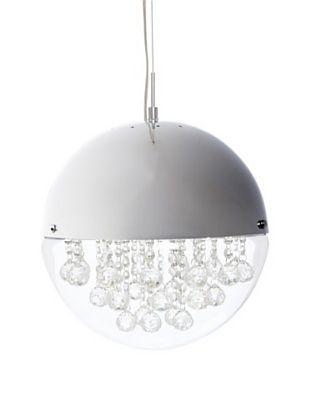 Crystal Lighting Crystal Chandelier, Chrome