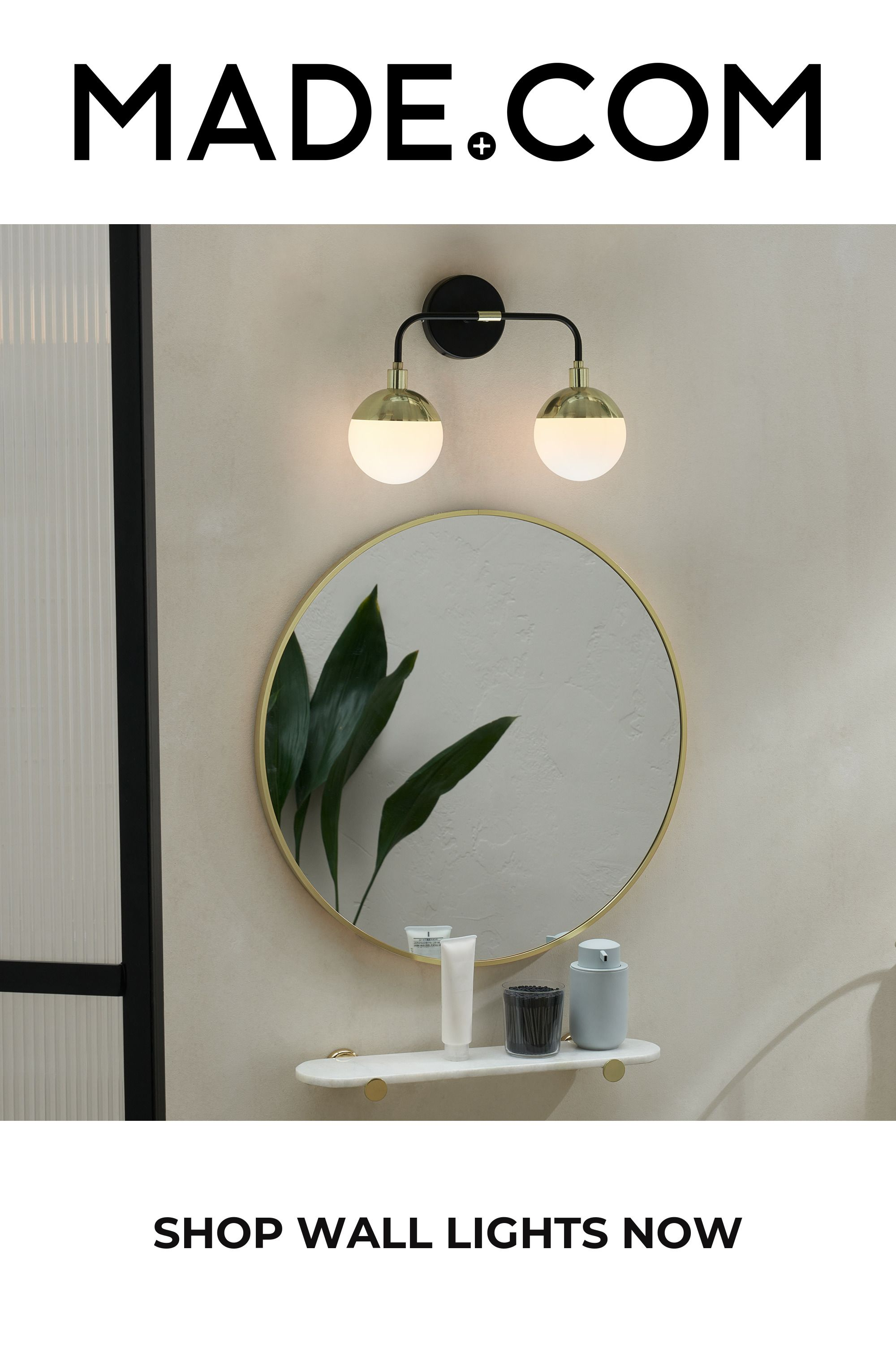 Photo of MADE Black & Brass Wall lamp