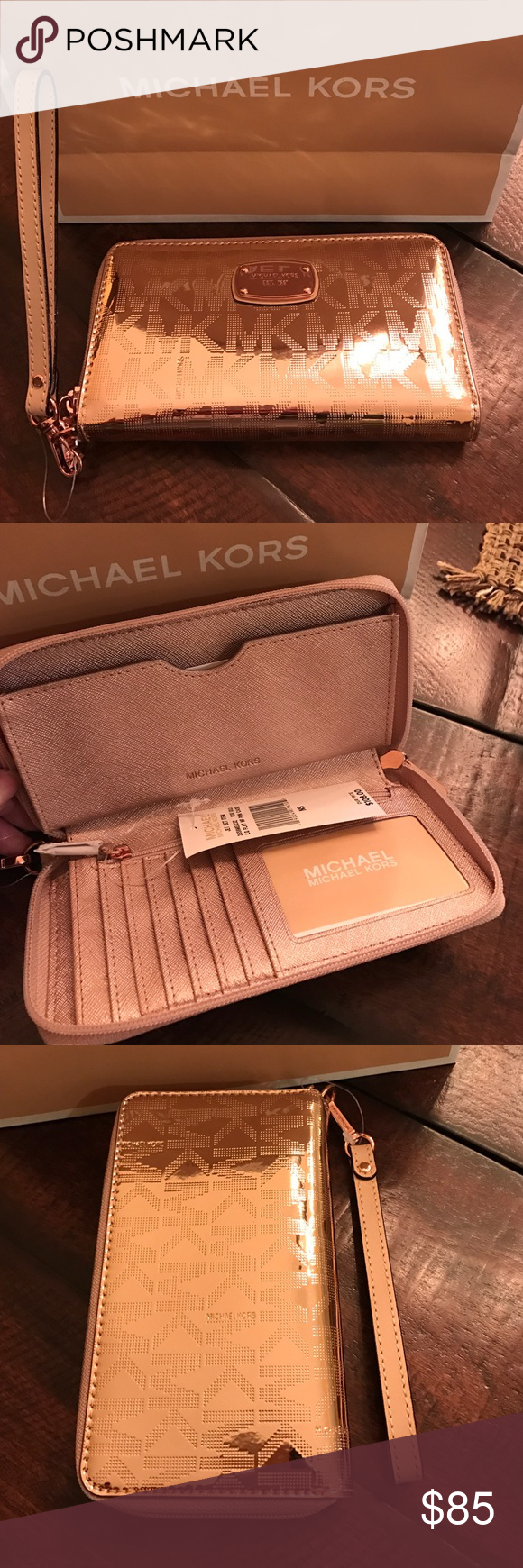 low priced 4e832 e782a Michael Michael Kors Jet Set Phone Case Wallet♦️ Michael Michael ...