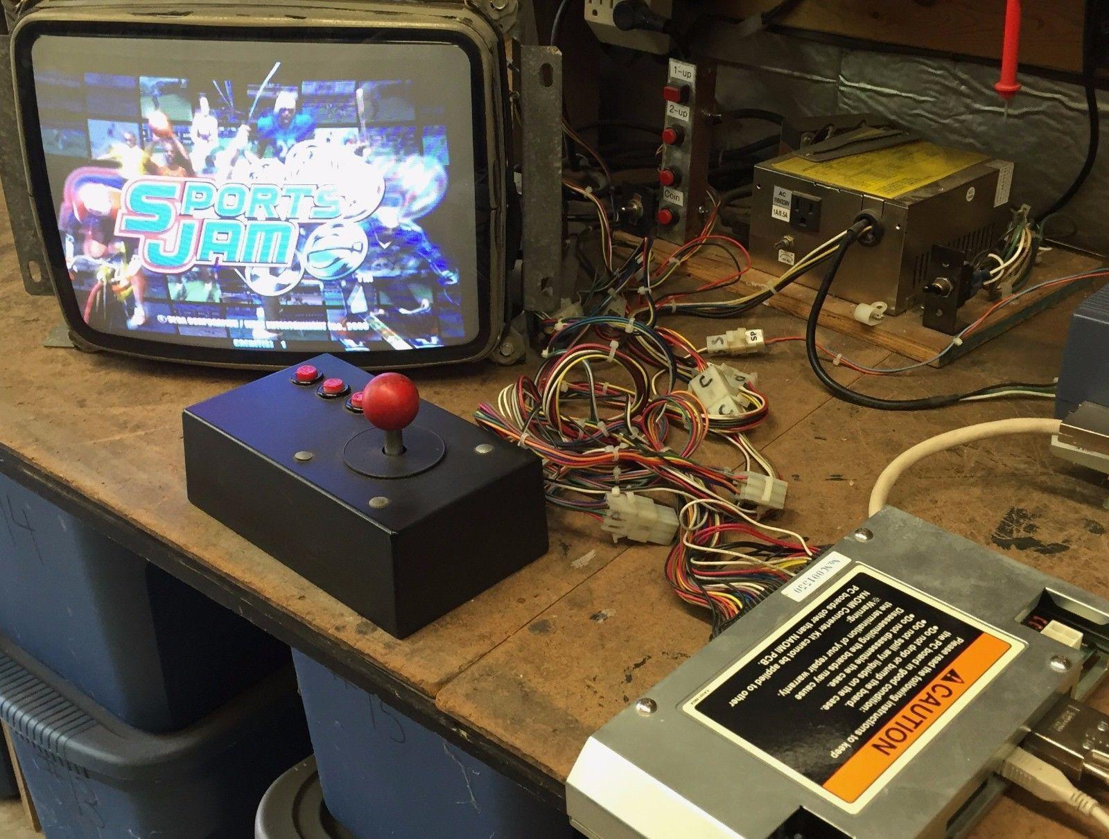 Sega Naomi Sports Jam GD ROM Arcade Circuit Board PCB Complete Setup