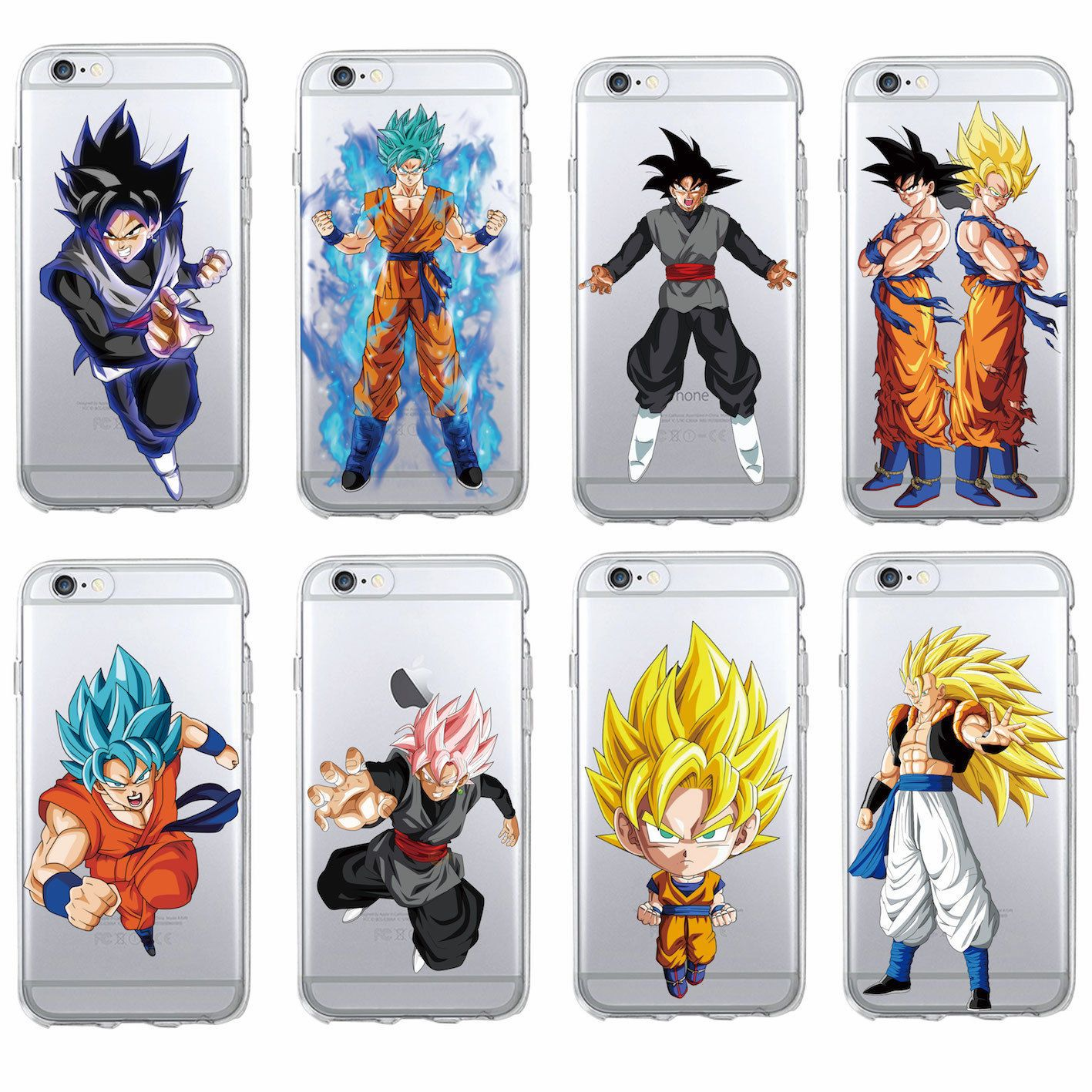 USA Seller Apple iphone 6 /& 6S Anime Phone case Cover DBZ Dragon Ball Goku Buu..