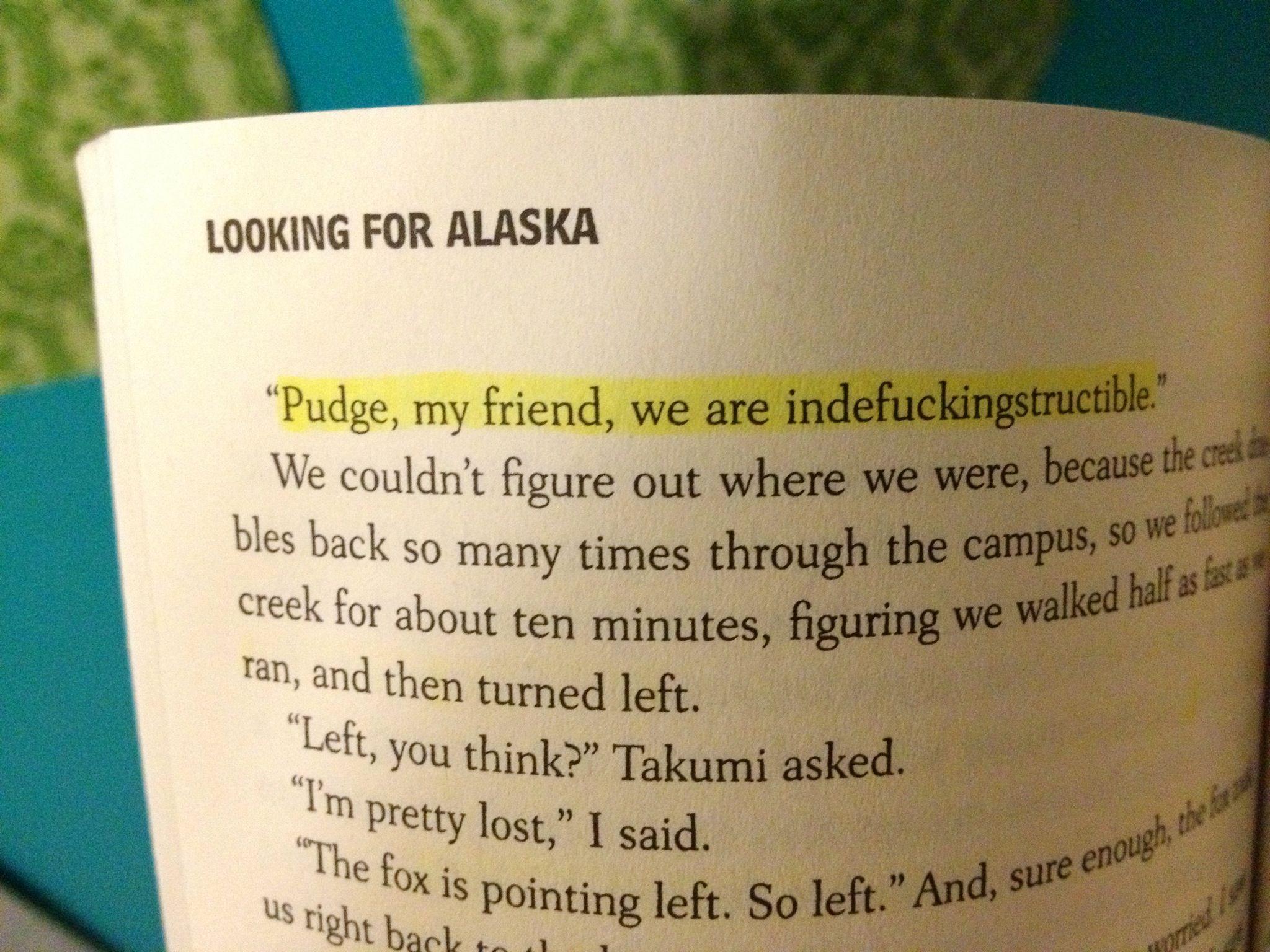 The Girl Alaska In Looking For Alaska: Looking For Alaska; John Green