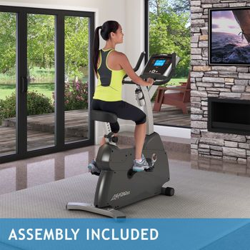 Costco Life Fitness C1 Upright Lifecycle Exercise Bike Assembly Included Biking Workout Recumbent Bike Workout Exercise Bikes