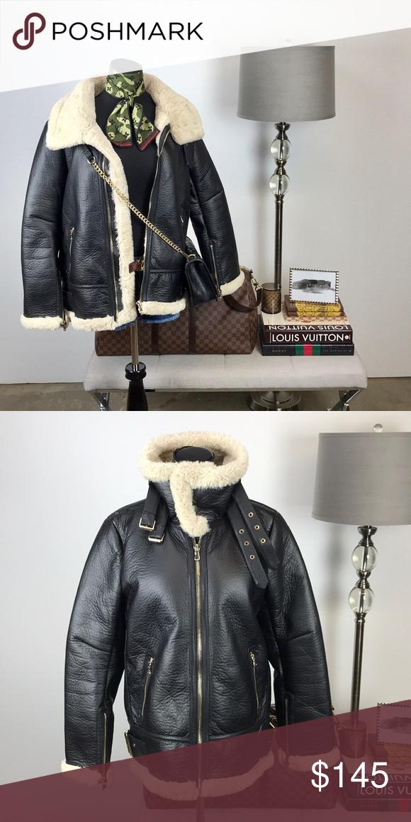 Zara Faux Fur Lined // Leather Jacket // Coat Fashion