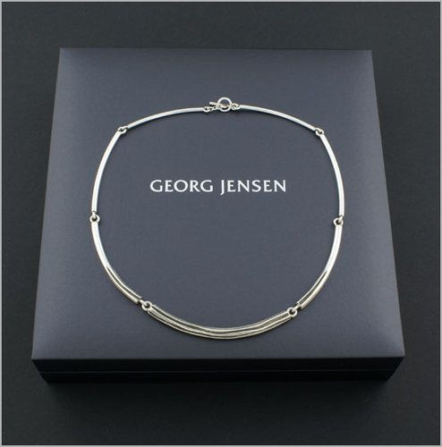92c226752 Georg Jensen Modern Sterling Silver Necklace 353B Designed by Ole Kortzau |  eBay