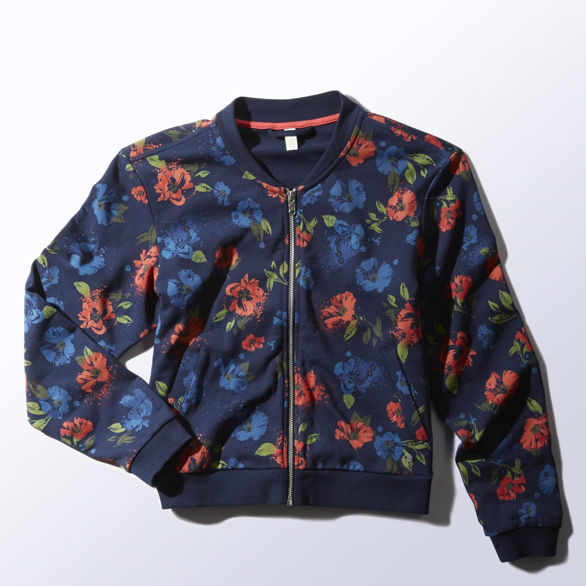 Lada Maestro Narabar  adidas - Floral Bomber Jacket