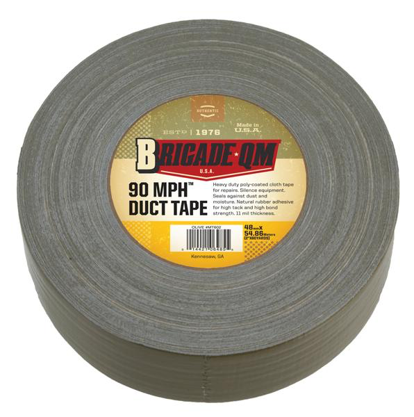 Brigade S Army 90 Mph Duct Tape Oiive 2 X 60 Yd 180ft Roll Duct Tape Tape Repair Tape