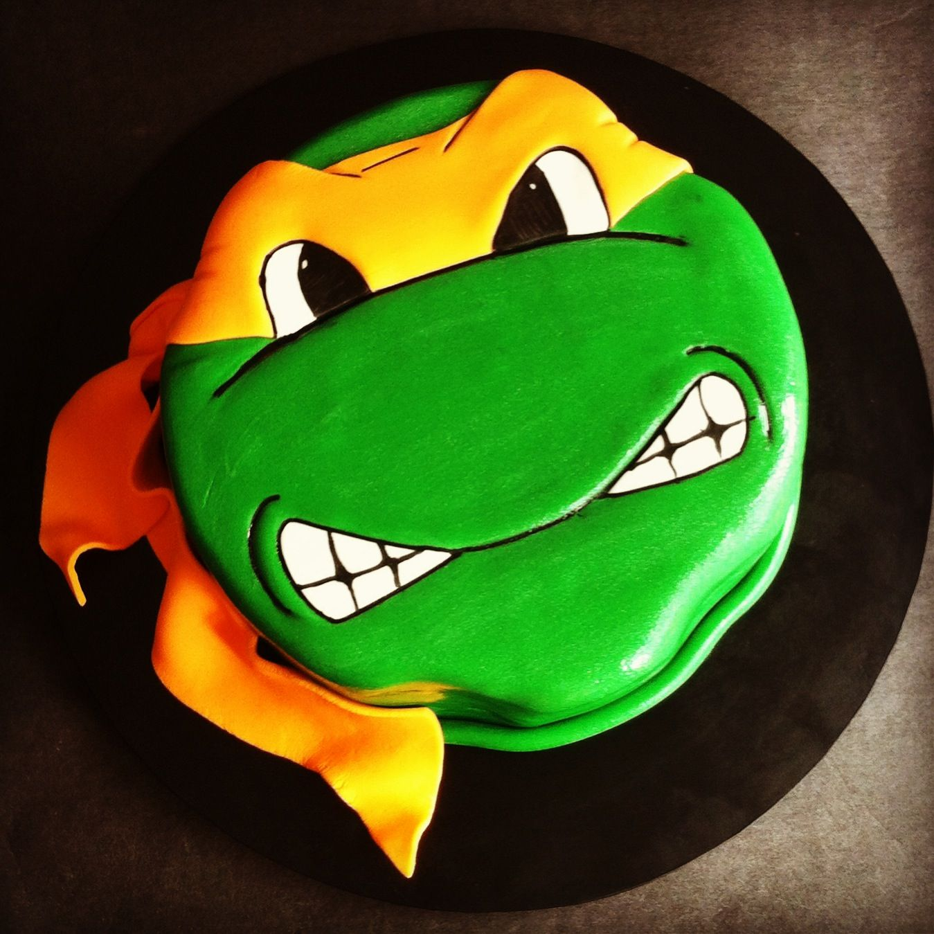 Michaelangelo Ninja Turtle cake Cakes by Lou Party Ideas