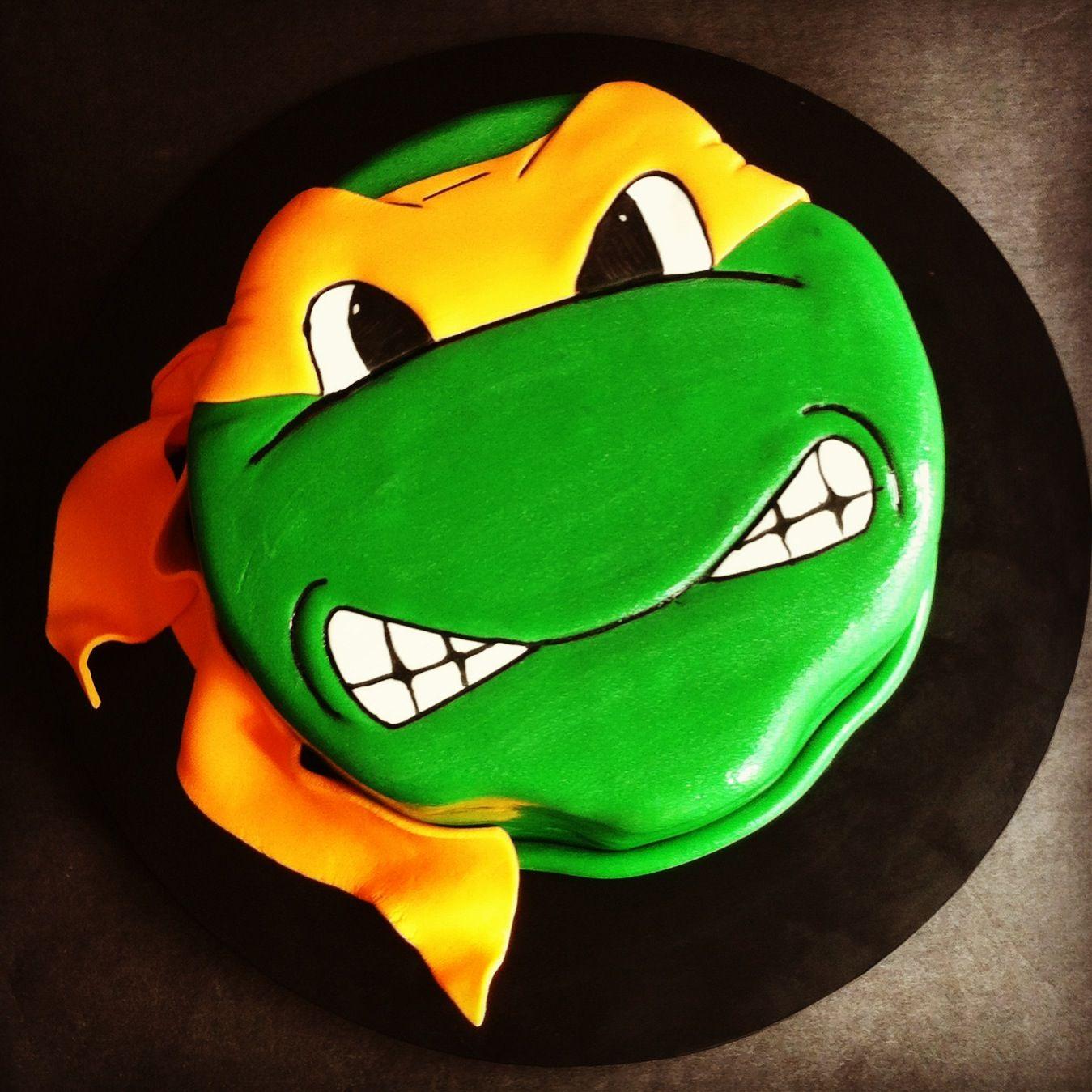 Michaelangelo Ninja Turtle Cake