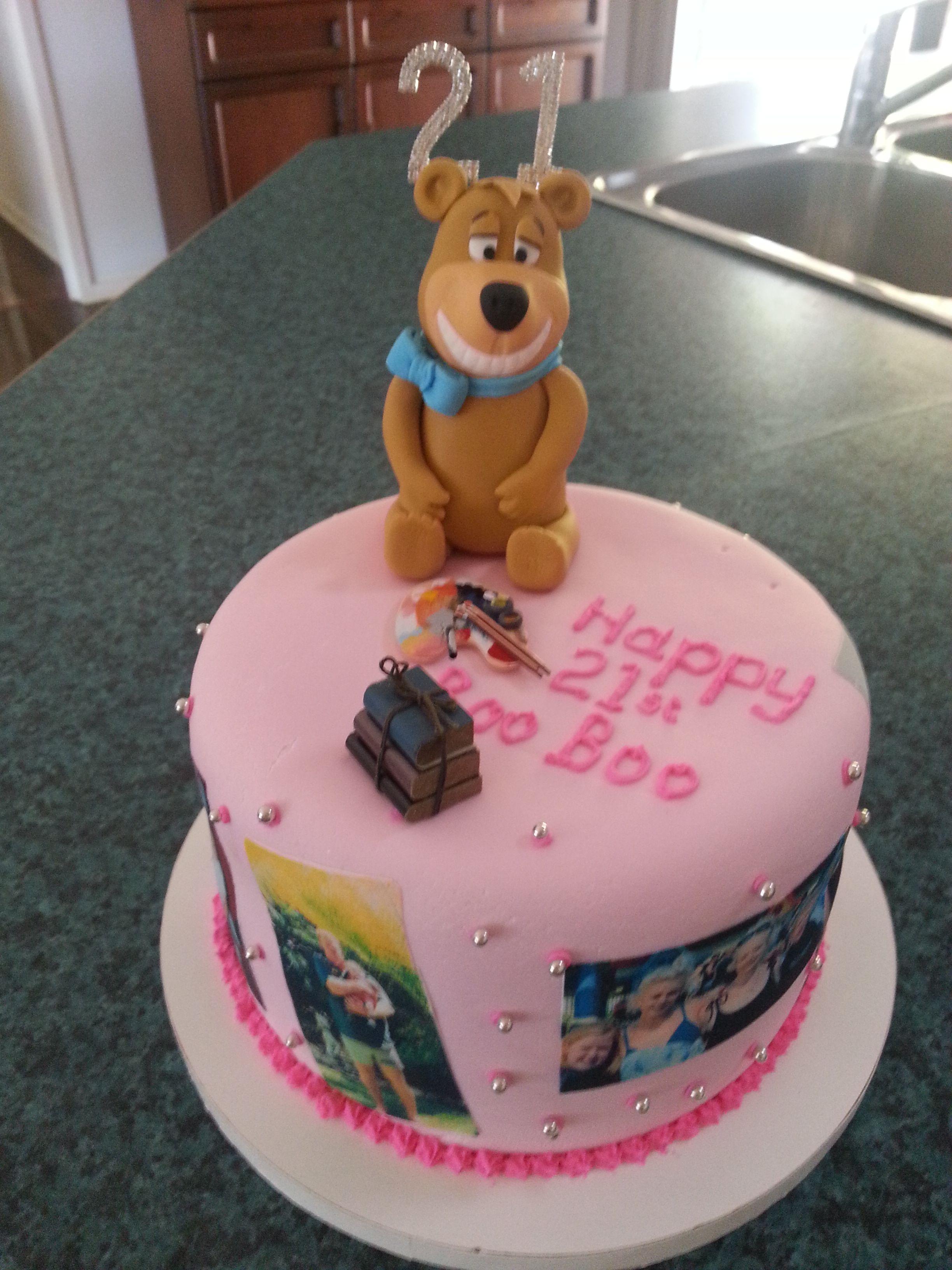 Yogi Bear 21st Cake Yogi Created By Karen Frangipani Cakes