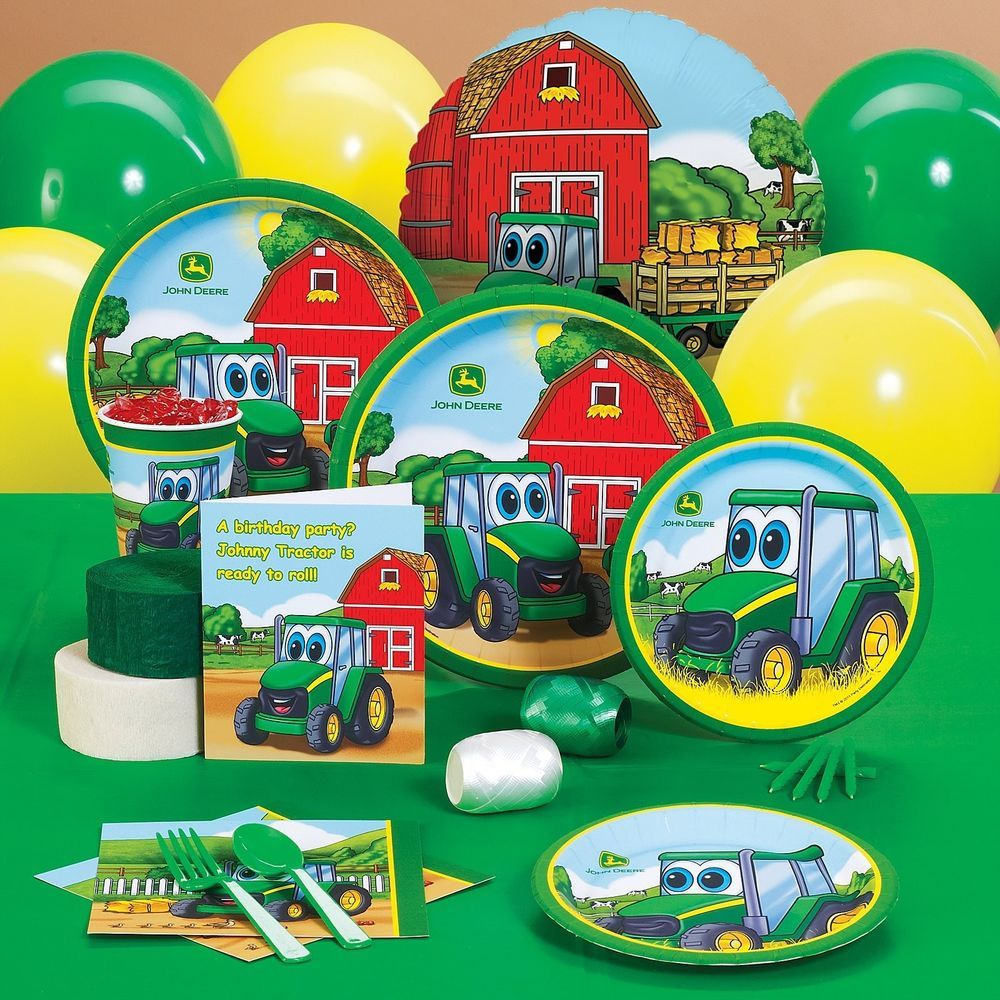 Johnny tractor 1st first party pack for 8 john deere party supplies ...