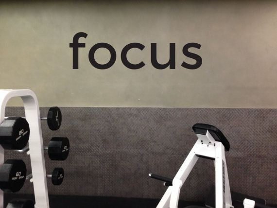 Fitness Studio Decor Gym Motivation Decal Gym Wall Decal Home Gym Decor Focus Gym Pinterest