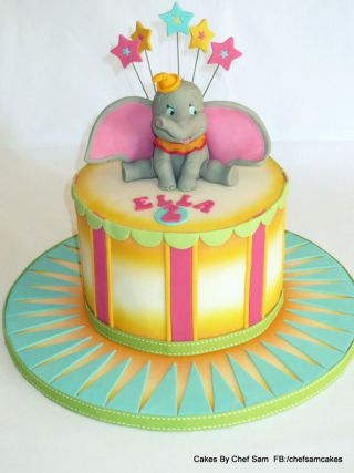 Outstanding Dumbo The Elephant Cake By Chefsam Cakesdecor With Images Birthday Cards Printable Trancafe Filternl