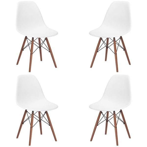 Vortex Side Chair With Walnut Legs Set Of 4 Dining Table
