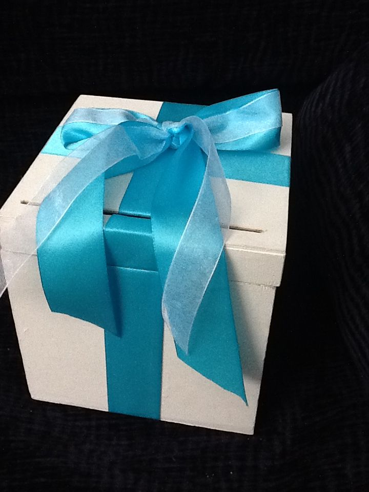 My wishing well box made for 10 extra ribbon from