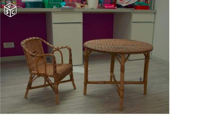 Table Et Chaise Pour Enfant En Rotin Ameublement Loire Atlantique Leboncoin Fr Table Et Chaise Enfant Table Et Chaises Chaise Enfant
