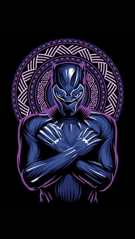 Wakanda King Black Panther Art Iphone Wallpaper Black Panther Art Black Panther Marvel Panther Art