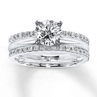 0 25 Ct White Diamond Enhancer Engagement Ring Wrap 10k White Gold