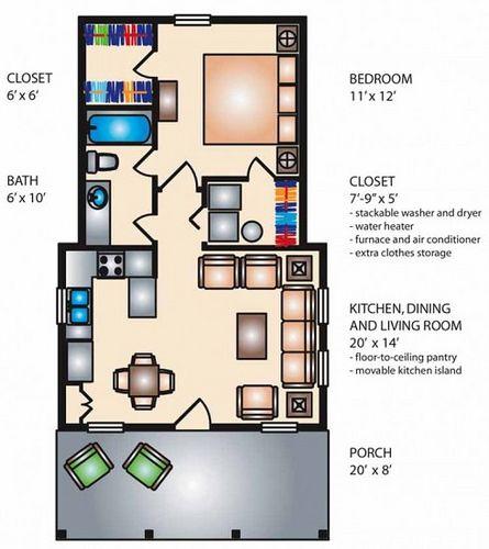 planos de casas pequenas de un solo piso