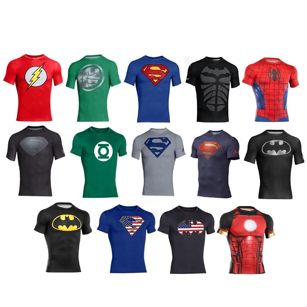 Under Armour Alter Ego Superhero Compression Shirt Marvel DC Limited Edition 8cb14e50c