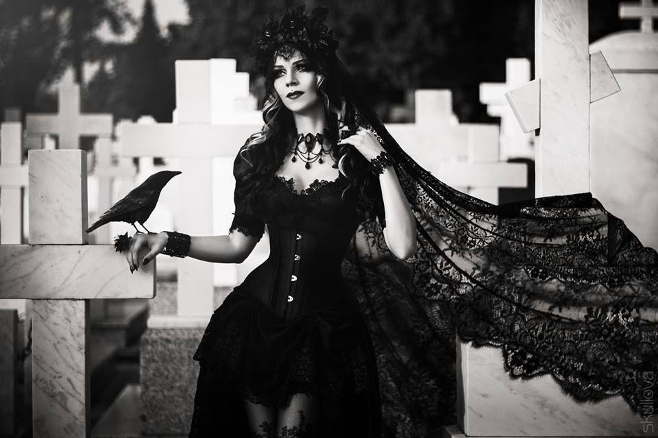 Model: Milena Grbović Photo: Skullova Art Clothes/headpiece: Villena Viscaria Clothing Necklace: Sardonyx Lace Welcome to Gothic and Amazing  www.gothicandamazing.com