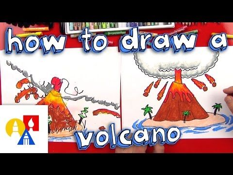 How To Draw A Volcano Art For Kids Hub Art For Kids Hub Art For Kids Drawing For Kids