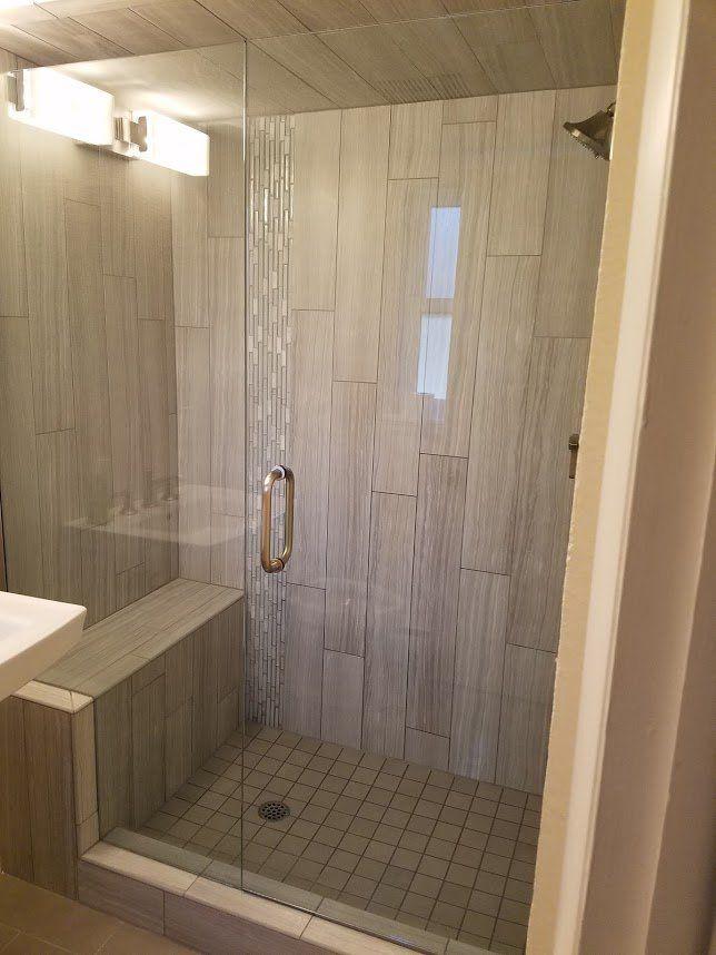 Bathroom Remodel With Frameless Shower Door Custom Flooring - Bathroom remodel arvada