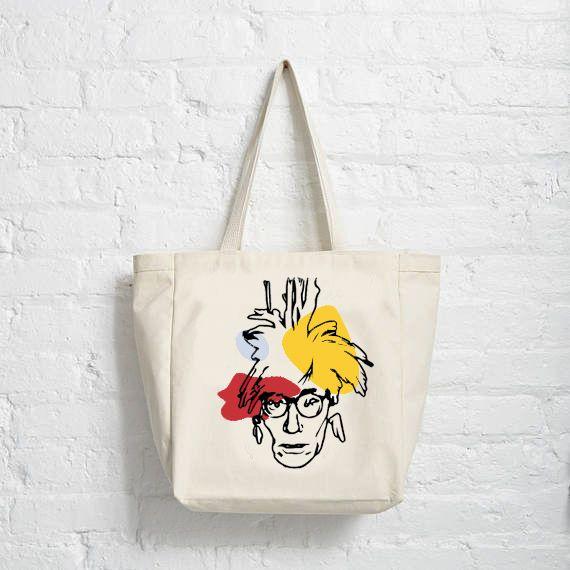 Andy Warhol Pop Art Bag Cotton Canvas Tote Artist Cute Design